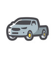 pickup style car icon cartoon vector image