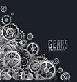 realistic 3d metallic gears background vector image vector image