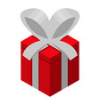 red gift box icon isometric style vector image
