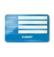 Registration form on credit card vector image vector image