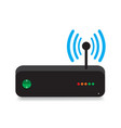router modem connection with shadow vector image