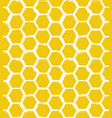 seamless pattern with hand drawn rough honeycombs vector image