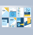 set brochure design templates education vector image vector image