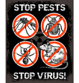 Sketch Pest Control Insect Poster vector image