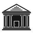 stone courthouse icon simple style vector image