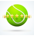 tennis ball with golden vector image vector image