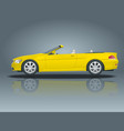 transfer cabriolet car cabrio coupe vehicle vector image