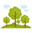 tree landscape forest vector image vector image