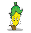 upside down face sweet corn character cartoon vector image vector image