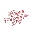 Valentines day lettering background Vintage vector image vector image