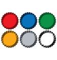 various metal caps for bottles set vector image