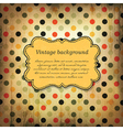 vintage card design with dot pattern vector image vector image