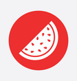 watermelon icon juicy ripe fruit on red background vector image