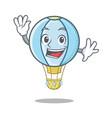 waving air balloon character cartoon