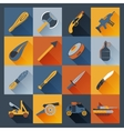 Weapon Icons Flat vector image