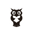 wisdom concept owl with books in graduation cap vector image