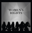 woman right poster silhouette vector image