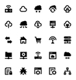 Cloud Data Technology Icons 5 vector image