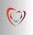Teamwork symbol vector image