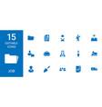 15 job icons vector image vector image