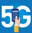 5g phone technology connect worldwide smart vector image