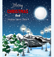 a christmas night landscape vector image vector image