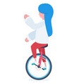 a girl with an unicycle vector image vector image