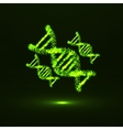 abstract dna neon molecular structure