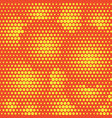 abstract dotted halftone background yellow vector image vector image