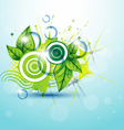 abstract nature background vector image vector image