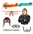 aviation transport and worker colorful poster on vector image vector image