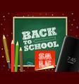 back to school season sale concept vector image vector image