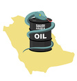Barrel oil in Saudi Arabia map background Snake vector image vector image