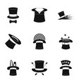 bonnet icons set simple style vector image vector image