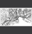 bridgeport usa city map in retro style outline map vector image vector image