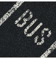 bus sign on asphalt vector image vector image