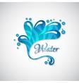 business logo blue water splatter web icon vector image