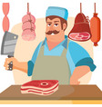 butcher character classic professional vector image vector image