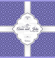 card with vintage purple geometric pattern vector image vector image