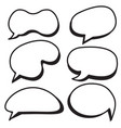 cartoon bubbles set comic style speech bubbles vector image vector image