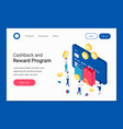 cashback rewards and loyalty program isometric vector image vector image
