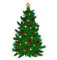 Christmas tree sketch vector image vector image