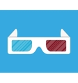 Cinema paper stereo 3d glasses vector image
