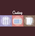 cooking utensils design vector image vector image