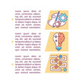 creative vs critical thinking concept icon vector image