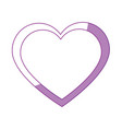 cute big heart vector image vector image
