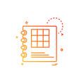 diary icon design vector image