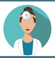 doctor web icon otorhinolaryngologist avatar vector image