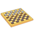 Draughts vector image