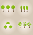 Ecology concept with Abstract trees vector image vector image
